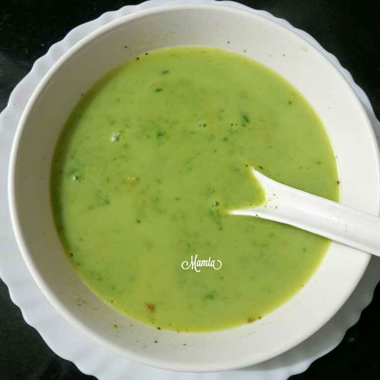 How to make Dal palak soup