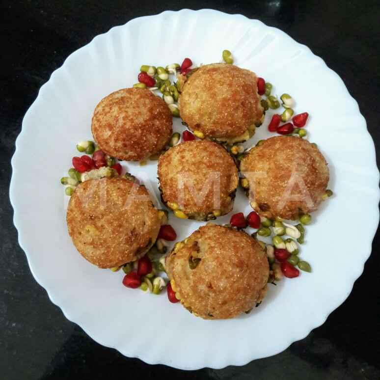 Photo of Moong stuffed appe bachi hui bread se by Mamta Joshi at BetterButter