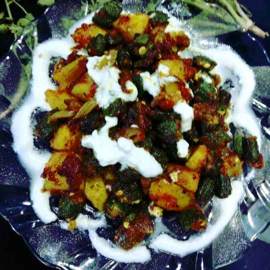Photo of Curd dip bhindi by Mamta Rastogi at BetterButter