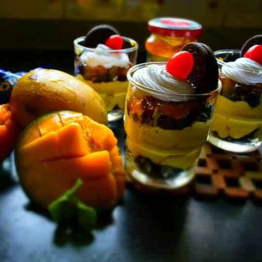 Photo of Oreo Mango Mousse Parfaits by Manami Sadhukhan at BetterButter