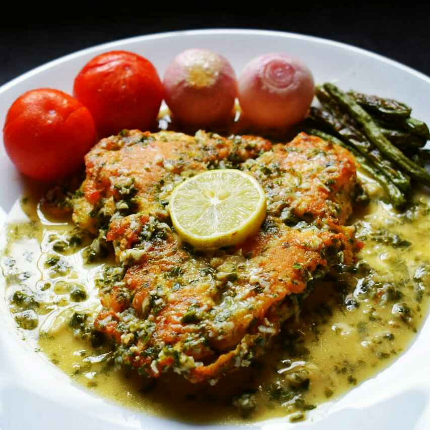 Photo of Chicken Francaise With Grilled Veggies by Manami Sadhukhan at BetterButter
