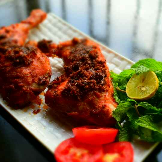 Photo of Baked Harissa Chicken Legs by Manami Sadhukhan at BetterButter