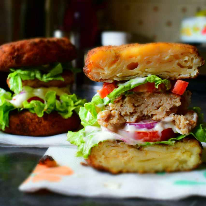 Photo of Mac And Cheese Bun Burgers by Manami Sadhukhan at BetterButter