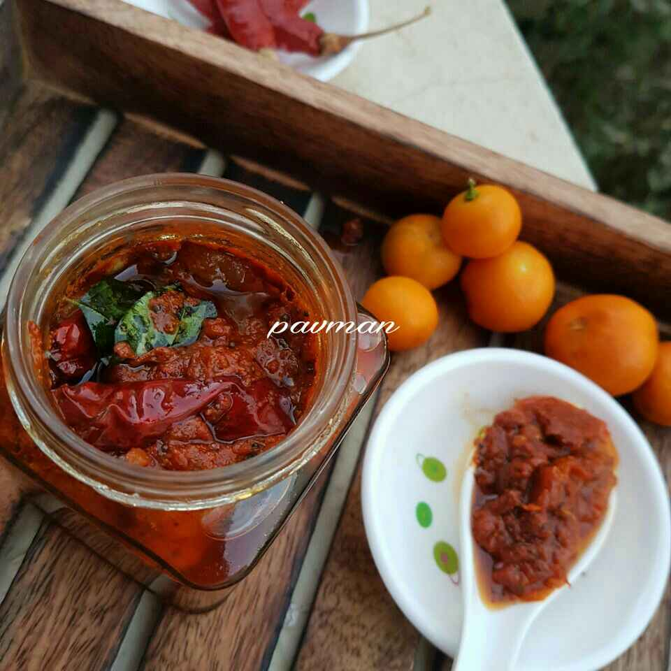 Photo of Baby orange pickle/ calamansi pickle by manasa Deevi at BetterButter