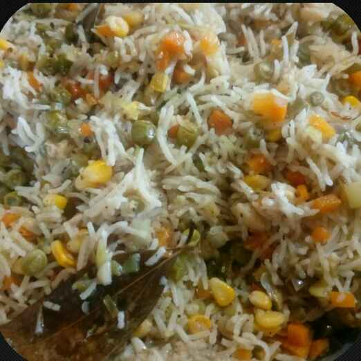 How to make Corn vegetable rice