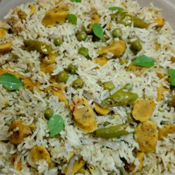 How to make Gatte rice