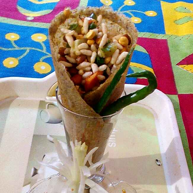 How to make Edible cone bhel