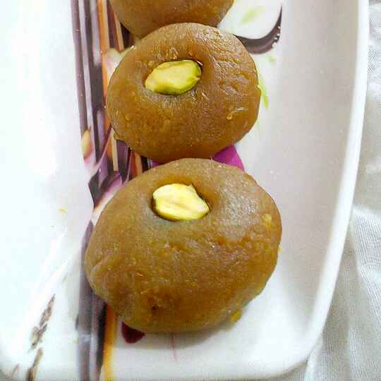 Photo of Moong Dal Peda With Mango Twist by Manisha Jain at BetterButter