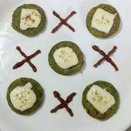 Photo of Mix Veg Cheesy Green Pancakes by Manisha Jain at BetterButter