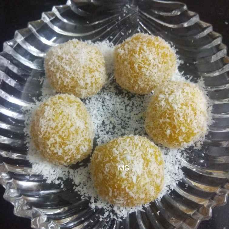 Photo of Mango n coconut ladoo by Manisha Sanjay at BetterButter