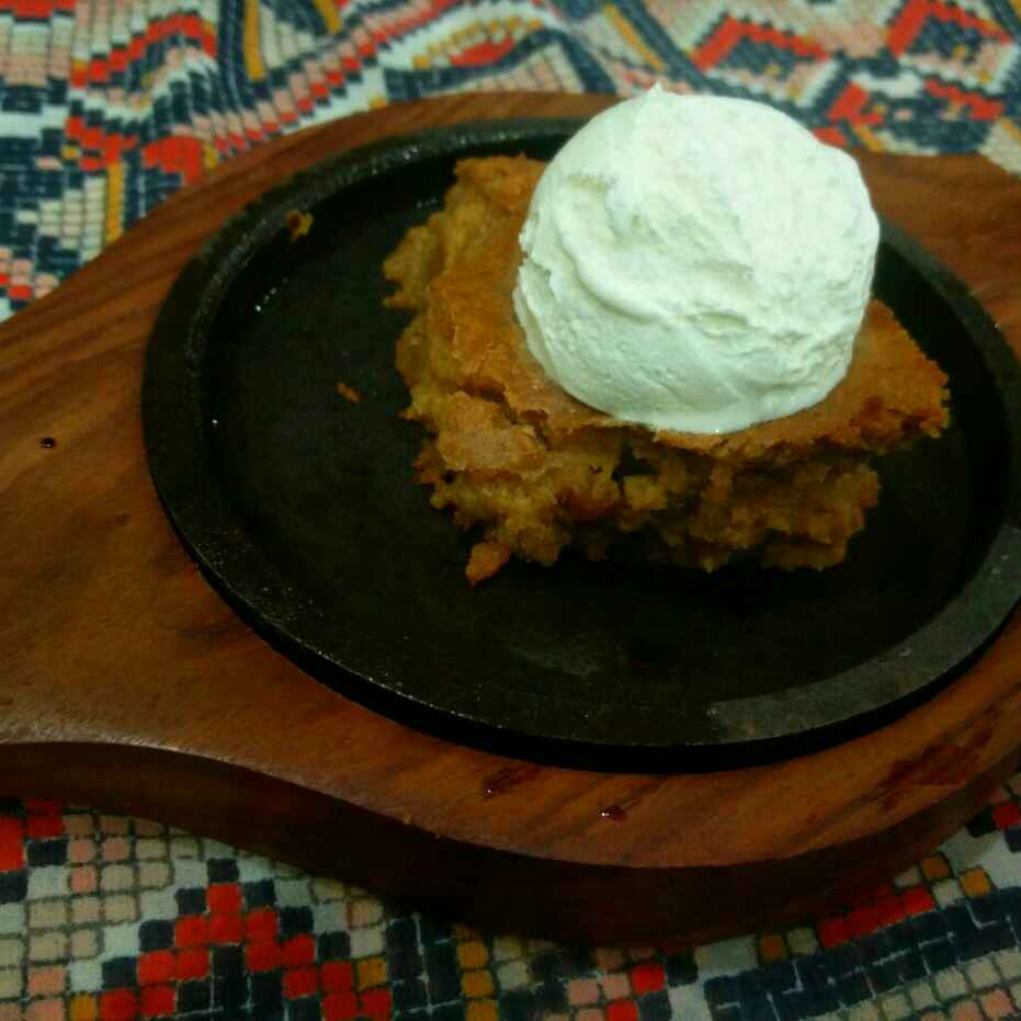 Photo of Eggless Sweet Potato Brownie with Vanilla Icecream by Manisha Shukla at BetterButter
