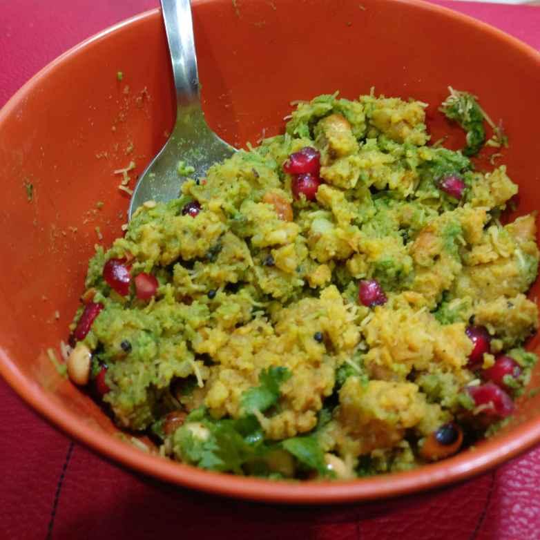 Photo of Sprouted Chana Potato Poha Locho.( My idea) by Manisha Shukla at BetterButter