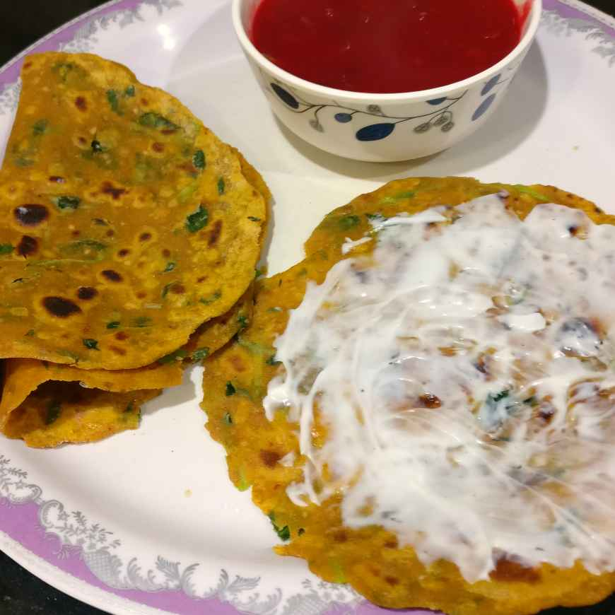 Photo of Methi Thepla. ( Round the year comfort food) by Manisha Shukla at BetterButter