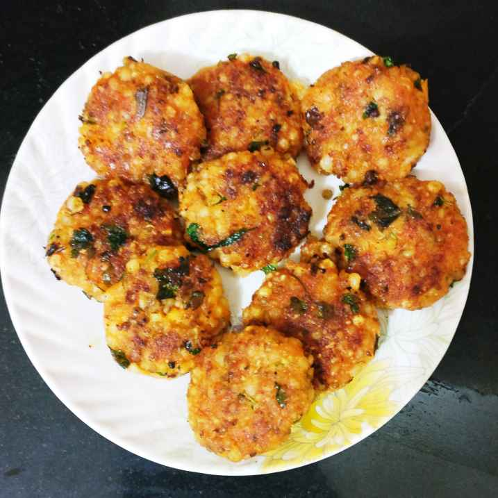 Photo of Sprouts Sweet Potato Sago wada. by Manisha Shukla at BetterButter
