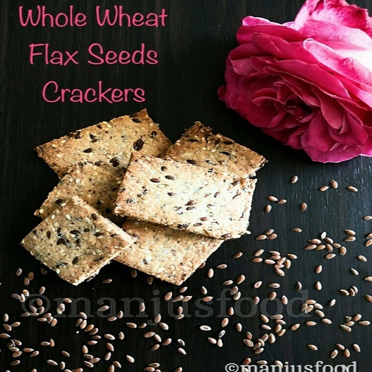 Photo of Whole Wheat Flax & Sesame Seeds Crackers by manju shah at BetterButter