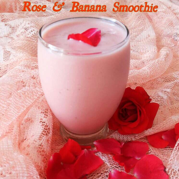 How to make Rose and Banana Smoothie