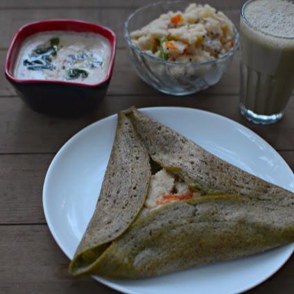 Photo of Pesarrattu Upma with Palli/ Peanut chutney by Manjula Bharath at BetterButter