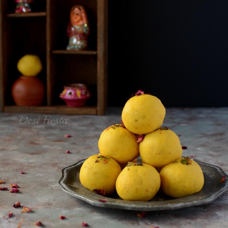 Photo of Kesar Malai Ladoo Recipe by Manjula Bharath at BetterButter