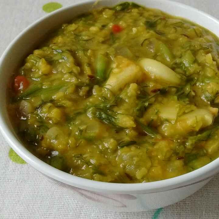 How to make Dill leaves and Moong Dal Sabzi