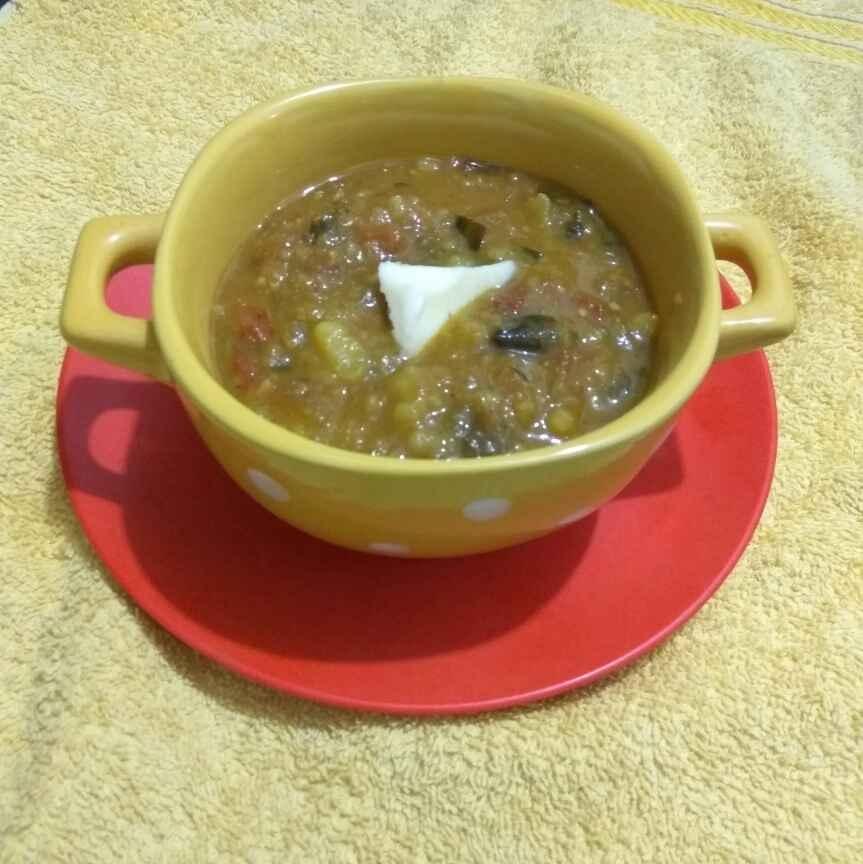 Photo of Bhaji in gravy ( pao bhaji wali bhaji) by Dr.Mankanwal Kaur at BetterButter