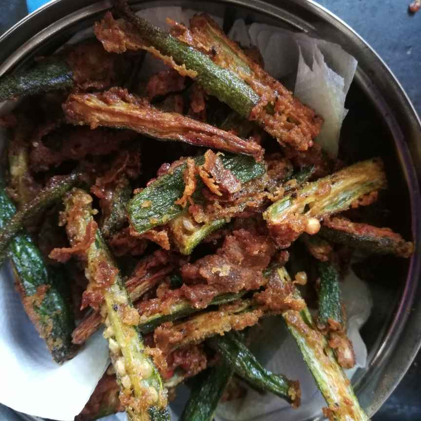 How to make Okra crispy fry
