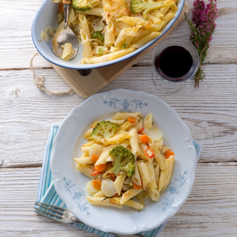 Photo of Vegetable Pasta Salad (Warm) by Maria Shen at BetterButter