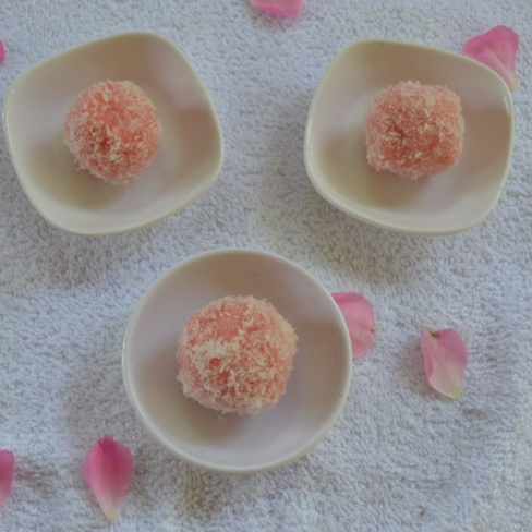 Photo of Rose and Coconut Ladoo by Mary Anlet at BetterButter