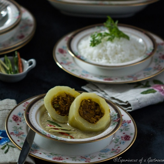 Photo of Pepe Dolma (Baby Green Papayas Stuffed with Fish in a Fragrant Milk Curry) by Maumita Paul Ghosh at BetterButter
