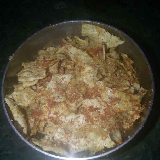 How to make पापड चूरा