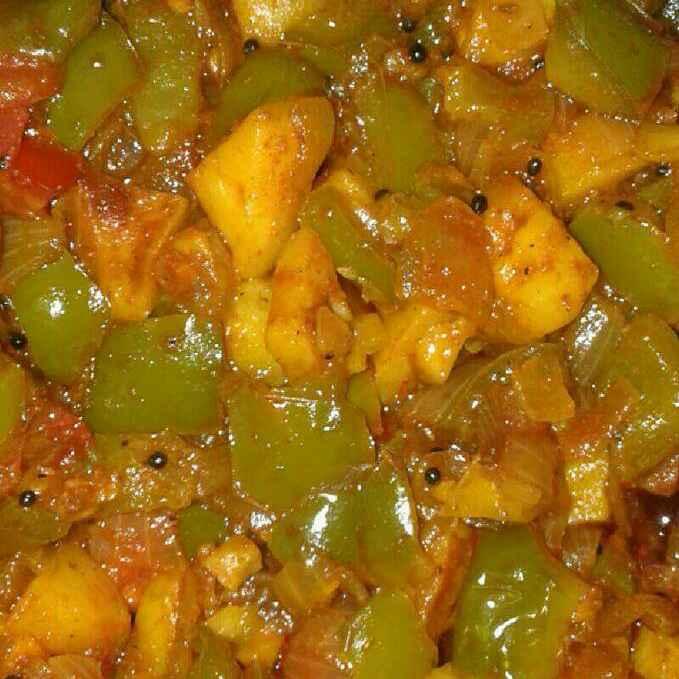 Photo of Simla mirchi   potato bhaji by Maya Joshi at BetterButter