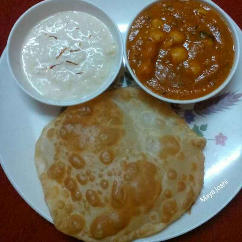 Photo of Chole, Bhature, Basundi by Maya Joshi at BetterButter