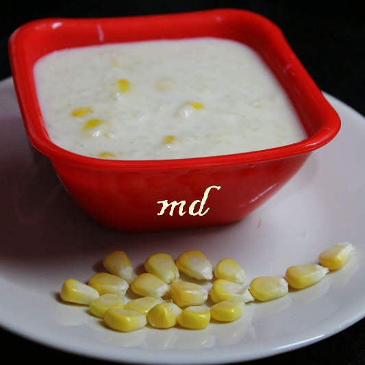 How to make Coconut milk rice pudding with sweet corn