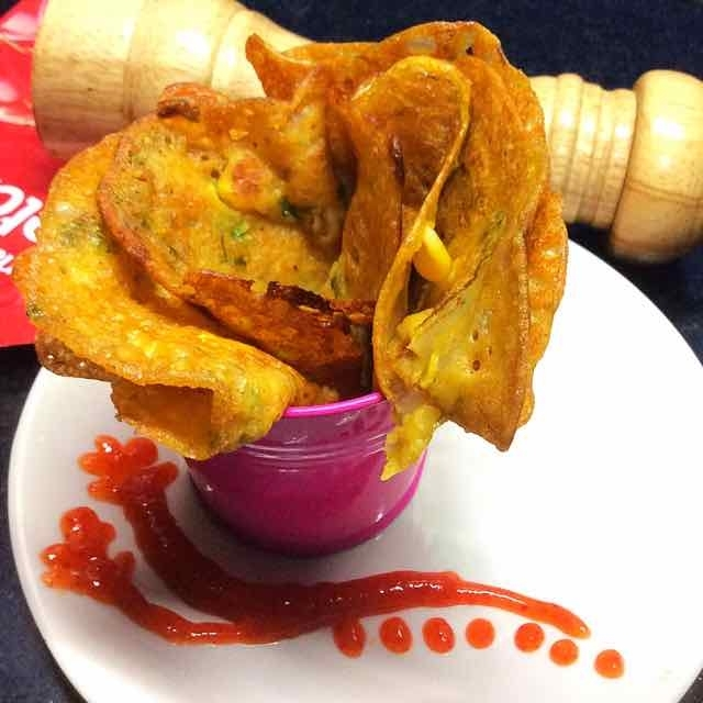 How to make Wheat flour spicy crepes with sweet corn