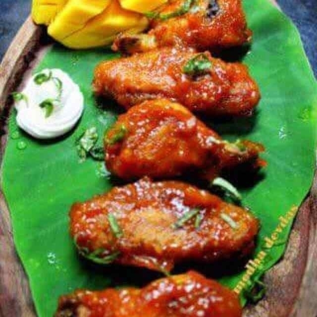 Photo of spicy mango chicken wings by Medha Devdas at BetterButter