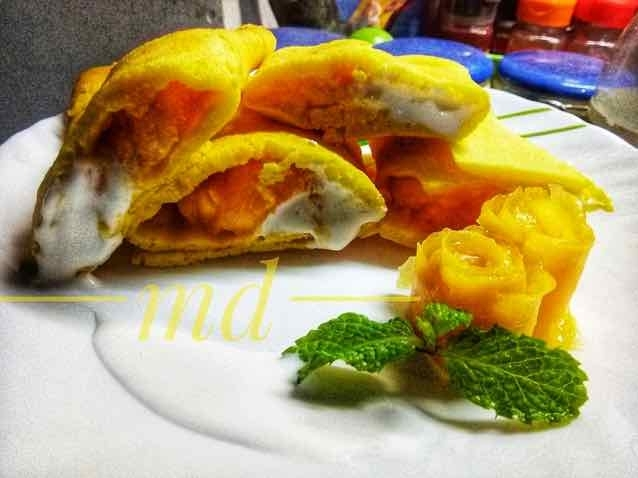 How to make Mango ice cream pancake