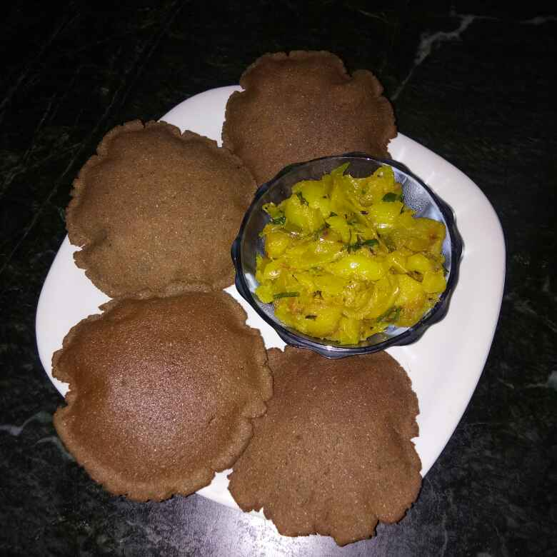 Photo of Bajre ke aate ki chatpati puri by Meena Dutt at BetterButter