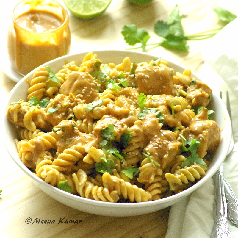 How to make Chicken Pasta Salad with Peanut Butter Dressing