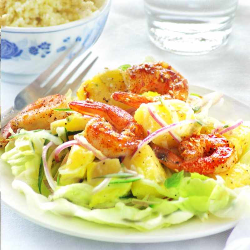 How to make Shrimp and Pineapple Summer Salad