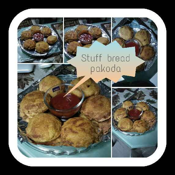 How to make Stuff bread pakoda