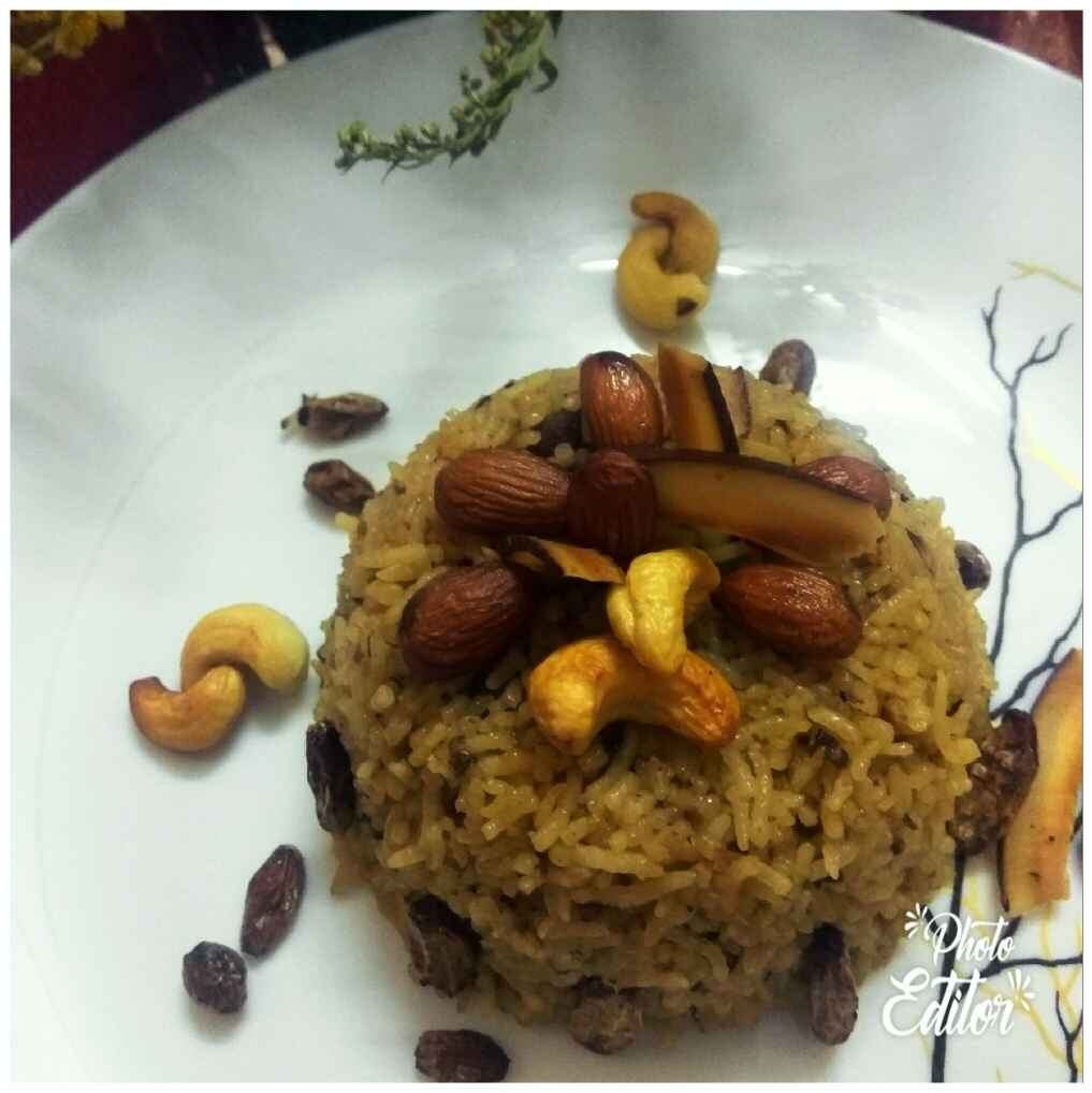 Photo of Sweet rice with dry fruit by Meenu Ahluwalia at BetterButter