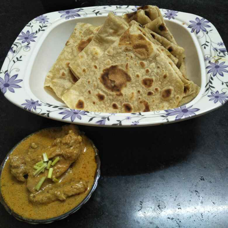 Photo of Hyderabad special Rumali roti with Afghani mutton by Meera Ansari at BetterButter