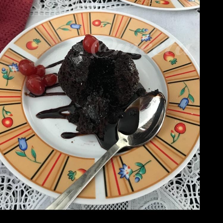 Photo of Eggless Chocolava Cake by Meeta Burman at BetterButter