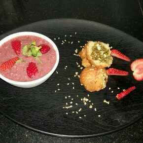 Photo of Gujarati Gathiya bread Roll with Strawberry Spicy Dip by Megha Fenil Shah at BetterButter