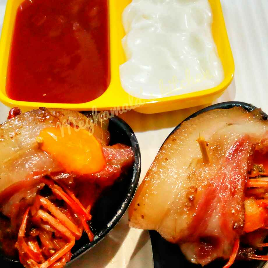 How to make Becon Wrapped Prawn