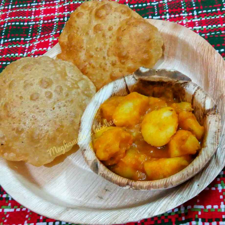 How to make North kolkata style Puri-Aloo sabji
