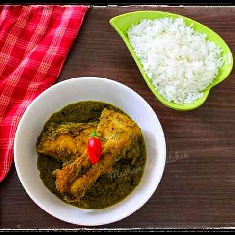 Photo of Ruhu fish in green peas paste/gravy by Meghamala Sengupta at BetterButter