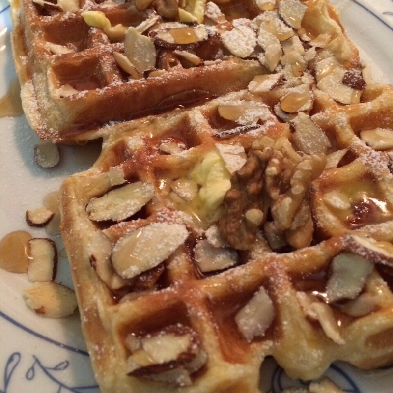How to make Banana Waffles with Butterscotch Sauce