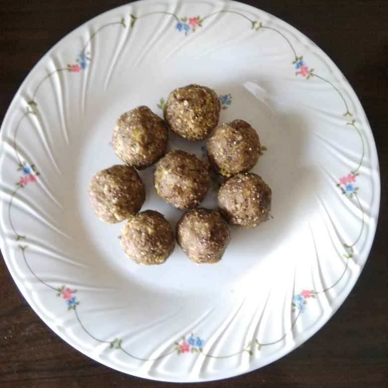 Photo of Instant high protein sugar free dry fruit ball by Mehta Manda at BetterButter