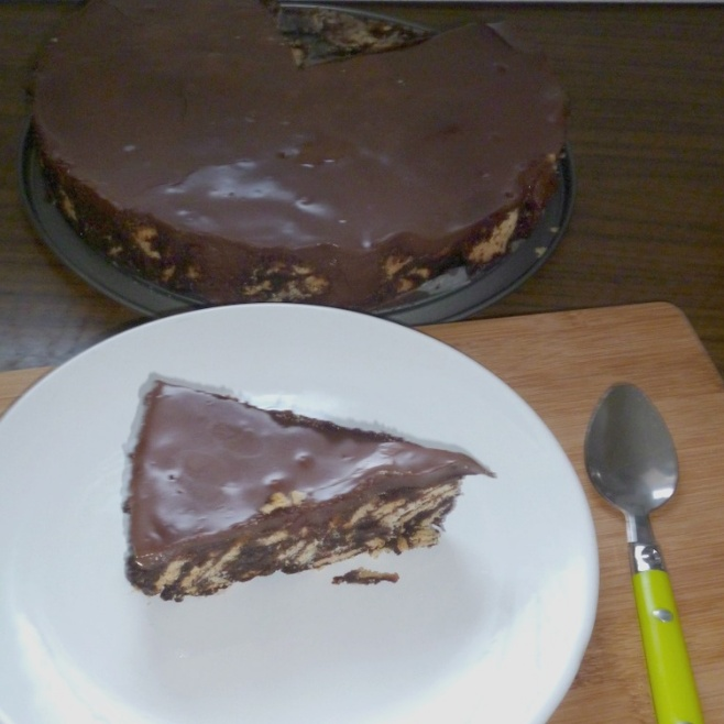 Photo of No Bake Chocolate Biscuit Cake by Menaga Sathia at BetterButter