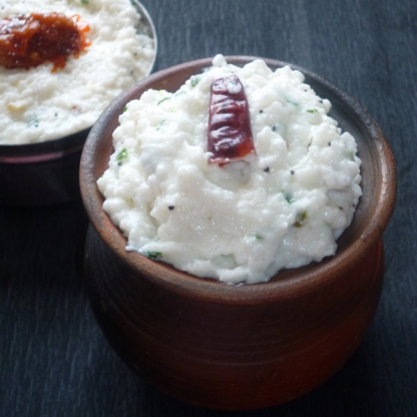 How to make Dadhiyonnam / Temple Style Curd Rice